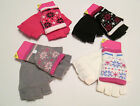 LADIES CONVERTER GLOVE/MITTEN SNOWFLAKE DESIGN 4 COLOURS ONE SIZE