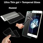 Tempered Glass + Ultra Thin Clear TPU Soft Back Case Cover for Huawei Honor Mate