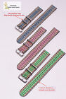peacock blue green pink 2Section  nylon watch band watch strap watch DWbuckle