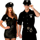 Police Officer Adults Fancy Dress American Cop NYPD Womens Mens Uniform Costume