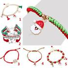 Fashion Xmas Candy Glass Beads Stocking Santa Claus Deer Christmas Bracelet New