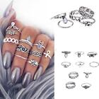 Fashion Knuckle Crystal Midi Ring Celeb Jewelry Glod Silver 10Pcs/Set New