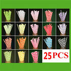 Talking Tables Paper Straw Straws Drinks Party Partyware Mix Match Xmas Summer