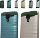 2Layer Hybrid Brush Rubber Case Cover For Kyocera Hydro View/ Shore / Reach