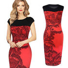 Elegant Women Sleevless Flower Lace Cocktail Party Slim Bodycon Dress S-XXL Gift