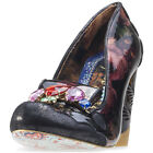 Irregular Choice Ellie Grant Womens Shoes Black Floral New Shoes
