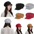 Cap Autumn Adjustable Plain Beret New Hat Breathable Stretch Vintage Women AB