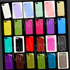 For iPhone 5 five RAINBOW color TPU Silicone phone case Soft Crystal Skin cover