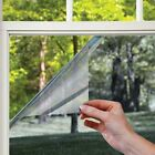 One Way Mirror Window Film Mirrored Privacy Sticky Glass Tint Silver Reflective