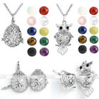 Charm Openable Locket Pendant Fragrance Diffuser Silvery Chain Necklace Jewelry