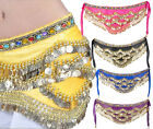Women Jewelry Velvet Outfits Belly Dance Gold Coin Hip Scarf Skirt Waist Belt