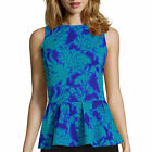 Worthington Sleeveless Dramatic Peplum Top Size M, L, XL New Msrp $40.00