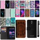 For ZTE Obsidian Z820 Magnetic Flip Wallet Leather POUCH Case Phone Cover + Pen