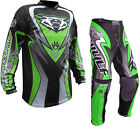 Wulf Attack Adult MX Motocross Jersey & Pants Green Kit Enduro Bike GhostBikes