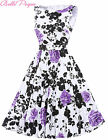 New Lady 1950s Causal Dress Party Retro Swing Floral Skater Cocktail Prom Dress