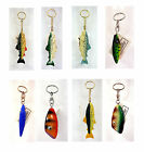 Fishing Lure Keychains - Wood Look
