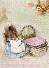 Beatrix Potter Mice Mother & Babies Quilt Block Multi Sizes FrEE ShiP WoRld WiDE