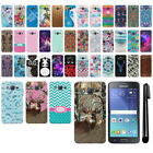 "For Samsung Galaxy J2 J200 4.7"" 1st Gen 2015 PATTERN HARD Back Case Cover + Pen"