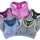 4 Colors Womens Breathable Soft Underwire S/M/L Cotton Push Up Sports Bra AB