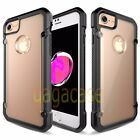 Black/Frost Apple iPhone 7 & 7 Plus High-End Hybrid Rubber Shockproof Case Cover