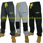 Mens Knee Pad Pockets Elasticated Fleece Work Jogging Bottoms Joggers Trousers