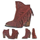 Not Rated Naughty Monkey Women's Fierce Fringe Western Booties Boots Boho