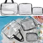 Useful 1Pc 3-in-1 PVC Transparent Cosmetic Tote Bag Toiletry Organizer Handbags