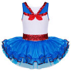 Shiny Sequin Ballet Leotard Dress Princess Party Cosplay Costume For Girls 2-8Y