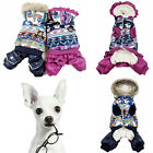 Winter Pet Puppy Dog Coat Snowman Apparel Costume Lovely Jacket Hoodie Clothes