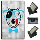 Hipster Animals With Bow Ties & Glasses Universal Leather Case For ACER Tablets
