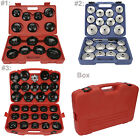 14/31 PCS Cup Type Oil Filter Wrench Removal Puller Tool Kit Set Adaptor Garage
