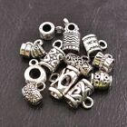 Lots 10/20 Pcs Tibetan Silver Tube Charm Connector Bail Jewelry Findings