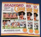 BRADFORD CITY HOME PROGRAMMES 1985-1986