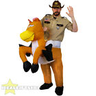 INFLATABLE HORSE RIDING FANCY DRESS SHERIFF RIDE ON SUIT NOVELTY FUNNY COSTUME
