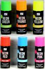 Neon Spray Paint Bright Colour Aerosol DIY 200ml Extra Bright High Visibility