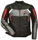 Ducati Corse C3 Perforated Leather Jacket By Dainese Black Red Grey