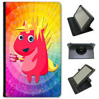 Mythical Magical Unicorns Dressing Up Universal Leather Case For Alba Tablets
