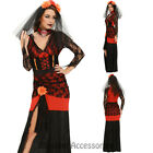 K262 Day Of Dead Senorita Mexican Halloween Womens Fancy Dress Costume Cosplay