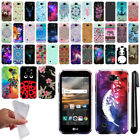For LG K3 LS450 Cute Design TPU SILICONE Rubber Soft Case Phone Cover + Pen