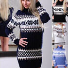 UK Womens Long Sleeve Pullover Sweater Ladies Turtleneck Knitted Jumper Dresses