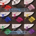 New 100PCS Sheer Organza Gift Candy Bags Wedding Party Favor Jewelry Pouches