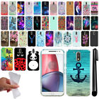 "For Motorola Moto G4/ G4 Plus 5.5"" XT1625 Design TPU SILICONE Case Cover + Pen"