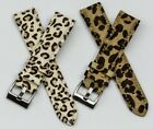 Watch strap ladies Leopard animal print faux fur band leather inner girls womans