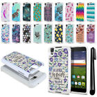 "For Alcatel Idol 4 DALK4004 Nitro 4 5.2"" 6055 Bling HYBRID Case Phone Cover +Pen"
