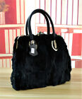 Women's Elegant Rabbit Fur Winter Warm Handbag Bag Shoulder Bag Purse