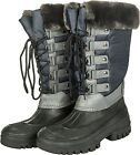 HKM Paris Ladies Winter THERMO WATERPROOF Horse Mucker Yard Boots with Fur Trim
