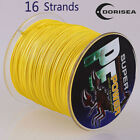 16 Strands 100M-2000M 6-300LB Yellow 100%pe Dyneema Braided Fishing Line