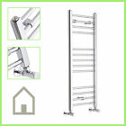 Chrome Heated Bathroom Central Heating Towel Rail Rad Radiator Curved Flat