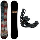Camp Seven Drifter and System LTX Rear Entry Bindings Men's Snowboard Package