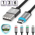 Reversible Micro USB Data Sync Fast Charging Charge Cable Cord 3FT Samsung LG